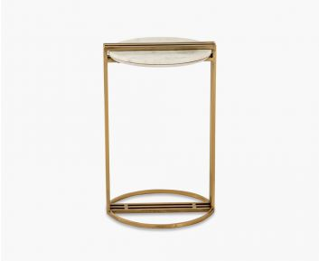 Provencal Side Table Gold-White