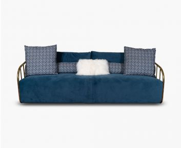 Quentin 3 Seater Blue