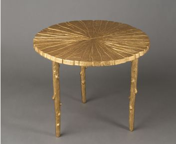Elegant Gold Round Table for House Decoration