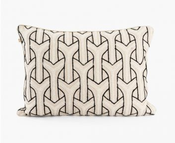 Ryan Cushion Cover Natural-Black