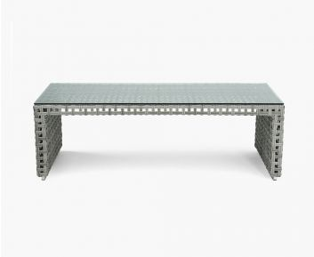 Serpent outdoor coffee table gray