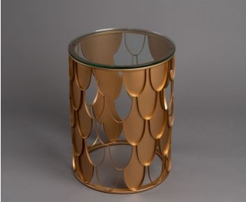 Jazz Brass Side Table for House Decoration
