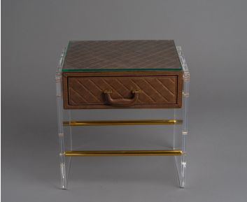 Hearst Brown Side Table for House Decoration