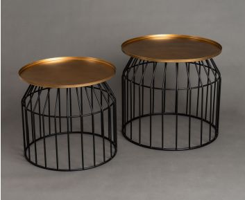 Blair Set of 2 Gold Side Table for House Decoration