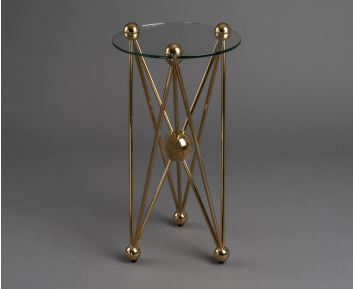 Binx Gold Side Table for House Decoration