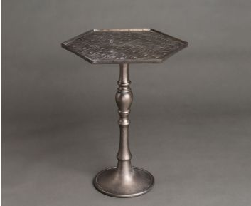 Dacey Grey Side Table for House Decoration