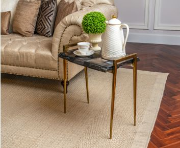 Barry Side Table in Natural Dark Ideal for House Decoration