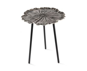 Eliane Side Table in Nickel to Complete Home Furniture 40 x 40 x 50 cm