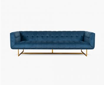Danish 4-Seater Sofa in Blue to Enhance Home Decor