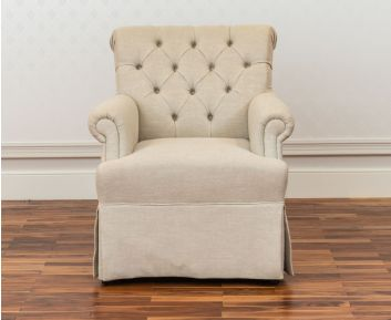 Anastasia Arm Chair in Cream for House Decoration