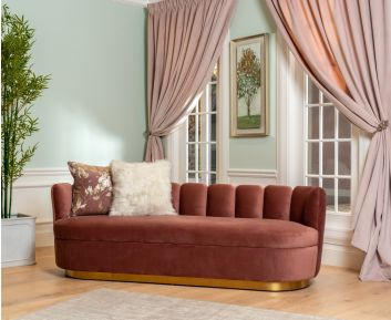 Gabby 3-Seater Sofa in Dusty Rose to Enhance Home Decor