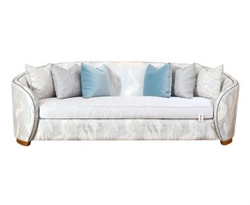 Amanda 4-Seater Sofa in Grey to Complete Home Furniture