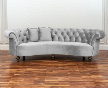 Vintage 3-Seater Sofa in Grey to Enhance Home Decor