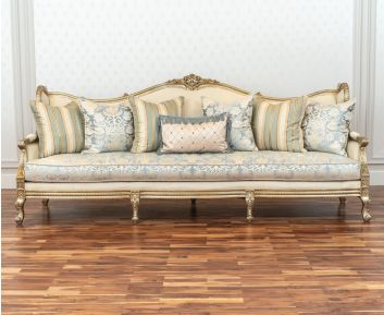 Loreto 4-Seater Sofa in Light Blue to Enhance Home Decor