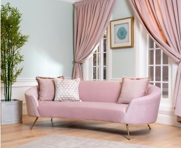 Malcom 3-Seater Sofa in Pink to Enhance Home Decor