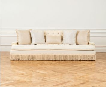 Lou 4-Seater Sofa in White to Enhance Home Decor