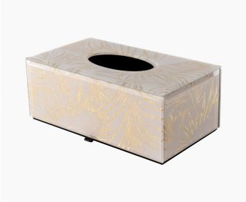 Gold Tissue Box as Modern Decor 25.5x14.5x10 cm