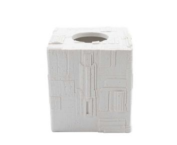Liz Tissue Box in White for House Decoration 14 x 14 x 15 cm