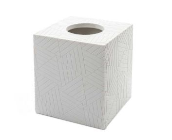 Evon Tissue Box in White for House Decoration 14 x 14 x 15 cm