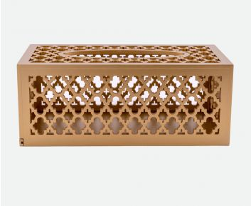 Designer Tissue Box in Gold Ideal for House Decoration