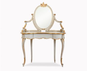 Vincenzo Vanity in Grey and Gold Colour 140x45x146cm