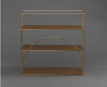 Wall Metal Shelf in Light-Gold For Home Decor