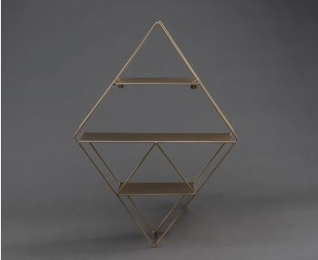 Wall Metal Shelf in Light-Gold colour For House Decoration