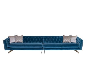 Yves 4-Seater Sofa in Blue to Complement Home Furniture
